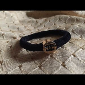 Accessories - 1 Chanel Velvet Hair Tie Scrunchie Ponytail Holder 2996a7a19a1